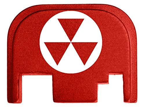 for Glock Back Plate Gen 1-4 17 19 21 22 23 27 30 34 36 41 Red NDZ - Fallout Shelter Symbol 1