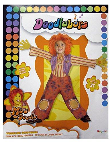 Moe Halloween Costume (Disguise Boys 'Moe Doodle Deluxe' Child Costume, Orange, 2T)