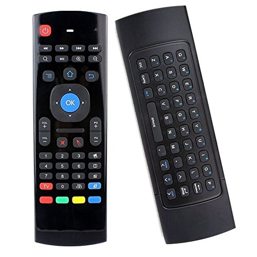 Shield Remote Receiver - EASYTONE MX3 Multifunctional 2.4G Mini PC Wireless Qwerty Keyboard and Android Remote Control Air Mouse 3-Gyro +3-Gsensor for Smart Android TV BOX G Box IPTV HTPC Windows IOS Mac PC Linux PS3 PS4 Xbox