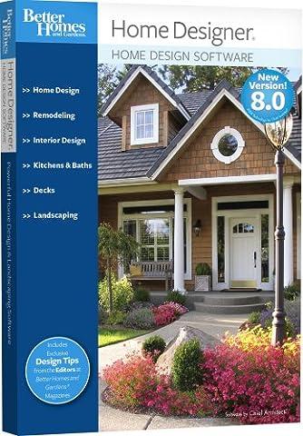 Better Homes and Gardens Home Designer 8.0 [OLD VERSION] (Cad Program Software)