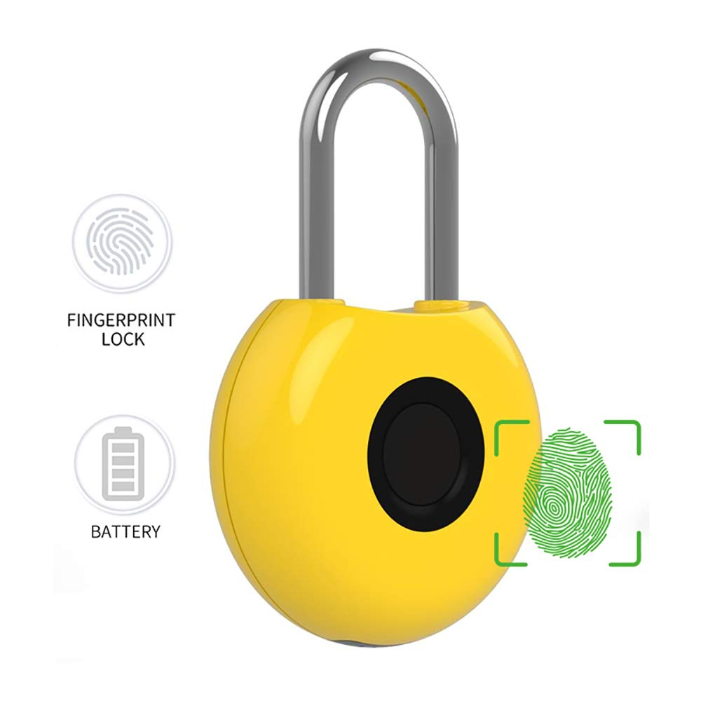 MUYIER Fingerprint Lock, Mini Smart Security Lock with USB Charge Low Battery Reminder for House Door Suitcase Backpack Gym Bike Office by MUYIER