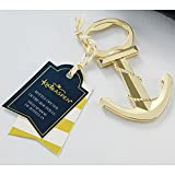 Gold Nautical Anchor Bottle Opener - 60 Pack