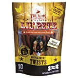 TruKnox Lil' PETE Twists Soft & Chewy NO Rawhide, Grain Free, Corn Free, Soy Free – Natural, Healthy with Superfood DogTreats – 10 Sticks 4.4 oz. | Human-Grade Chicken is # 1 Ingredient and Cinnamon Review