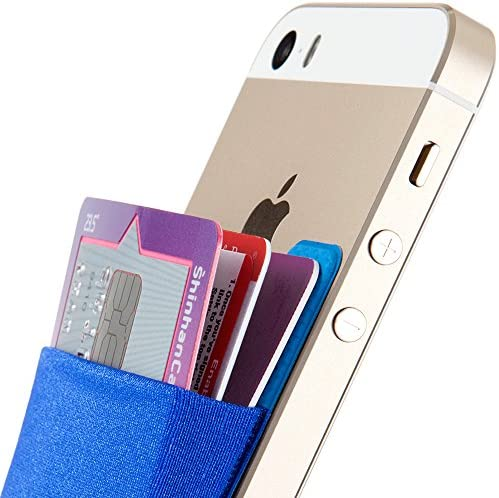 Cell Phone Credit Card Holder Sinjimoru Card Holder for Back of Phone Stick on Wallet Functioning as Card Sleeves Minimallist Wallet Sticker for iPhone Violet Sinji Pouch Basic 2