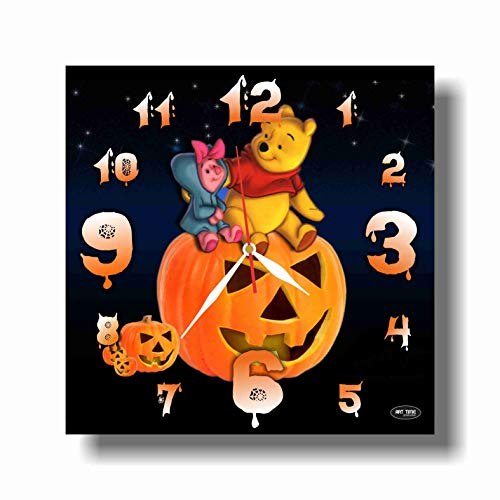 Winnie-The-Pooh Halloween 11.4'' Handmade Wall Clock - Get Unique décor for Home or Office - Best Gift Ideas for Kids, Friends, Parents and Your Soul Mates.