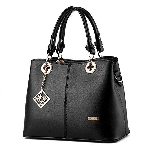 vinicio-womens-simple-fashionable-lady-elegant-leather-handbagblack