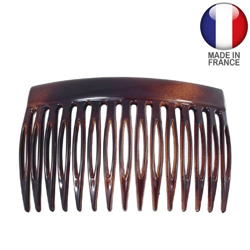 518-003 - Pettinino per capelli Fianchino cm 8 colore tartaruga - Made in France - Pettinini per capelli Fianchini Righe e Pois