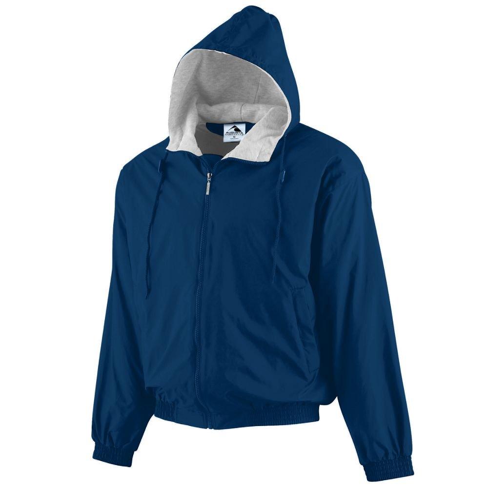 Augusta Sportswear Unisex-Adult Hooded Taffeta Jacket/Fleece Lined, Navy, Medium by Augusta Sportswear