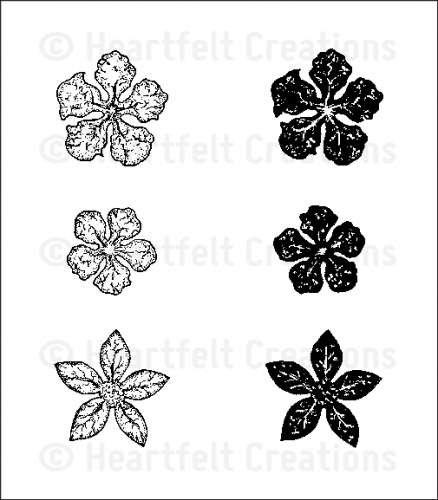 Collection Ez Mount Stamp - Heartfelt Creations Rubber Stamps - Mini Vintage Floret