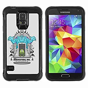 A-type Arte & diseño Anti-Slip Shockproof TPU Fundas Cover Cubre Case para Samsung Galaxy S5 V / SM-G900 ( Cool Monsters Illustration )
