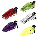 Threemart Fishing Lure Set Bundle with Spoon Lures, Soft Plastic Lures, Popper, Crank, Rattlin and Accessories