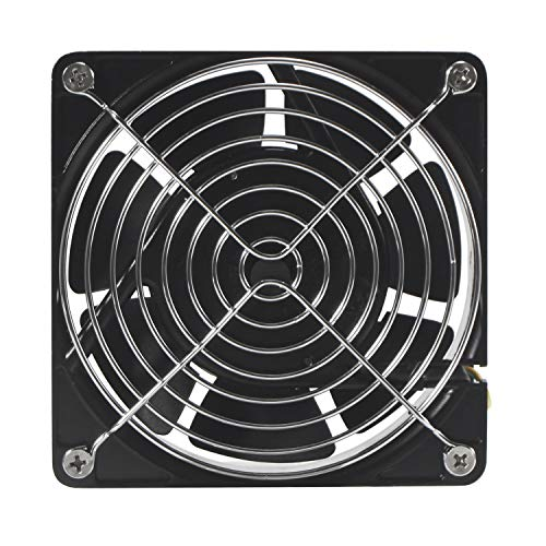 Hon&Guan 110V Cooling Fan, 120mm x 38mm High Speed Fan for DIY Cooling Ventilation Exhaust Projects ()
