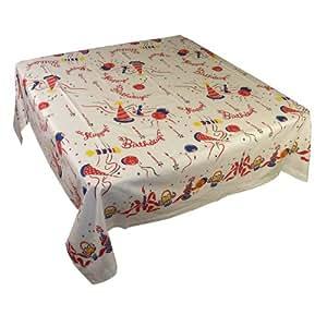 Amazon.com: 1950's Vintage Style Happy Birthday Tablecloth ...