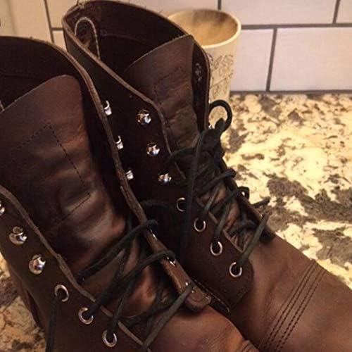 レザー靴ひも ブーツの革ひも ブーツ紐 シューレース レザーブーツひも 約72インチ