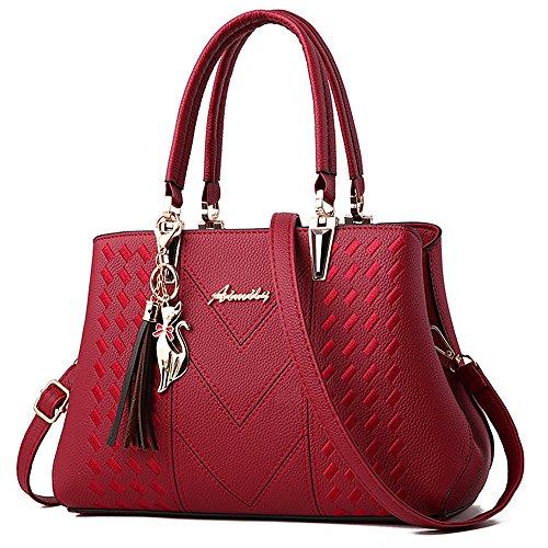 Ladies Handbags Red Bag ALARION Designer Purses Tote Shoulder Messenger Bag Satchel Womens and SHawqYT