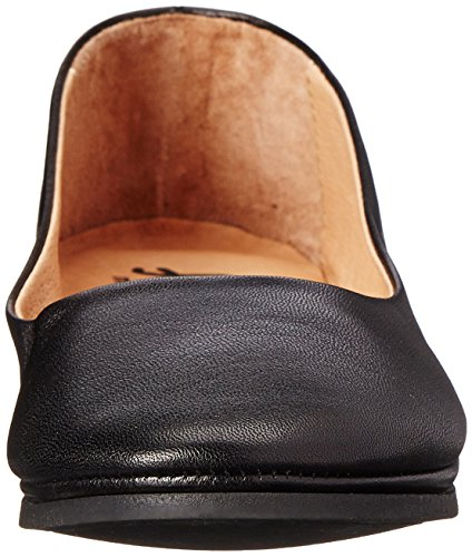 French Sole Womens Zeppa Slip on Shoes Black Leo ggWKFSwod