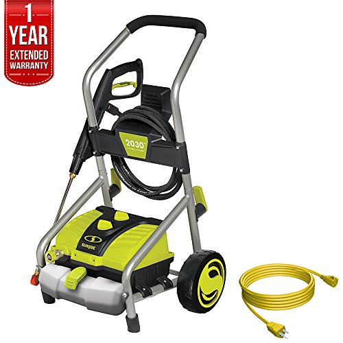 Sun Joe SPX4000 Pressure Joe 2030 PSI Electric Pressure Washer All You Need Bundle with 25 Foot Outdoor Extension Cord and One year Warranty Extension