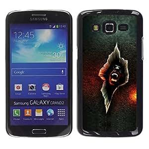 Caucho caso de Shell duro de la cubierta de accesorios de protección BY RAYDREAMMM - Samsung Galaxy Grand 2 SM-G7102 SM-G7105 - Vampire Crack