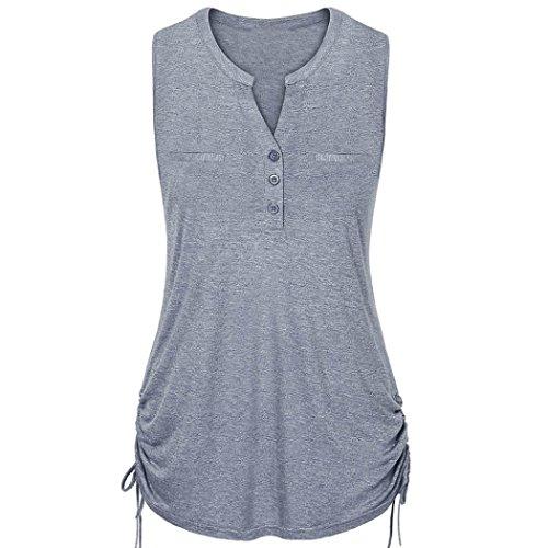 Women Blouse, Limsea V-Neck Vest Tank Blouse Rope Straps Pullover Sleeveless Tops ()