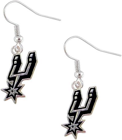 aminco San Antonio Spurs Dangle Logo Earring Set NBA Charm Gift
