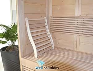 Well Solutions - Respaldo ergonómico con topes antideslizantes