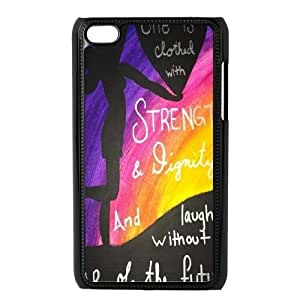 She is clothed with strength DIY Case for Ipod Touch 4, Custom She is clothed with strength Case