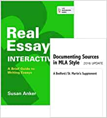 real essays w/readings-09 mla update Real essays with readings with 2009 mla update by susan anker (paperback book, 944 pages description real essays with readings is the essay-level book in susan anker's highly successful series of writing texts that motivate students with their message that writing is an essential skill in college and in real life -- and that this skill is .