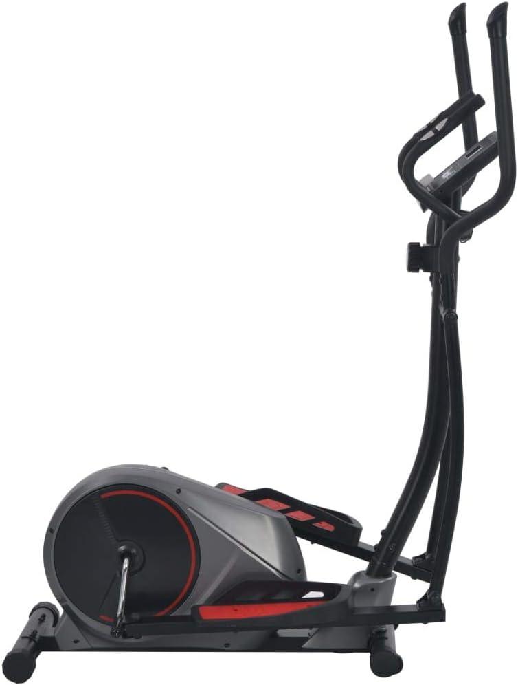 UnfadeMemory Bicicleta Elíptica Magnética para Casa con Volante Dual,Pantalla LCD y Pulsómetro,Resistencia Magnética de 8 Niveles,Máx.120kg,132x66x155cm (Negro y Gris Oscuro): Amazon.es: Hogar