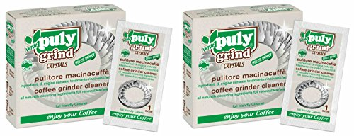 - Asachimici Puly Grind Crystals, Patented Coffee Grinder Cleaner - 20 Doses, 1/2 Ounce (15g) Each [ Italian Import ]