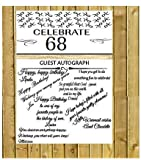 Easy to use guest autograph poster. Measures 13inches wide x 24inches long. Make your party memories last for a long time. This Fabric Poster can be signed with an ink pen, marker or sharpie.