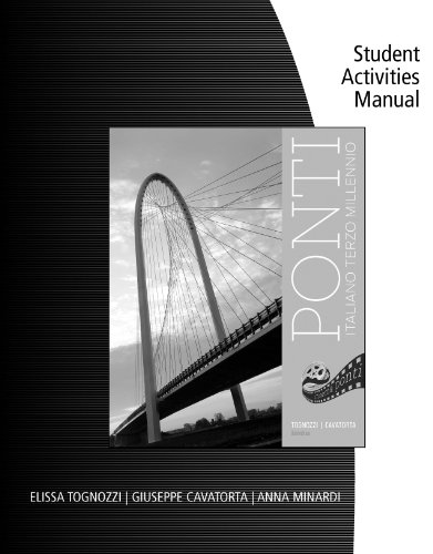 Student Activities Manual for Tognozzi/Cavatorta's Ponti, 3rd Pdf