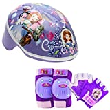 Disney Girls Sofia the First Princess Toddler Skate / Bike Helmet Pads & Gloves - 7 Piece Set