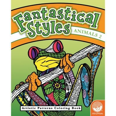 MindWare Fantastical Styles Funky Coloring Book: Animals 2: Toys & Games