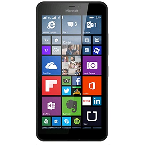Microsoft Lumia 640 XL LTE Dual Sim Black 8GB (RM-1096) Unlocked international model- no warranty (Best Start Menu Replacement For Windows 8.1)