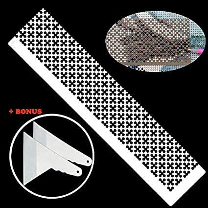 5D DIY Diamond Painting Tool Ruler + 2 Diamond Painting Fix Tools,  Stainless Steel Ruler DIY Drawing Tool with 699 Blank Grids for Diamond  Painting