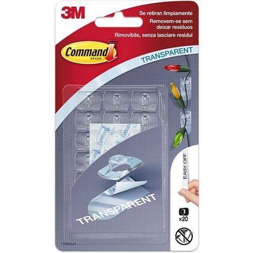 3M Gancho Command Transparente Grande 17026Clr