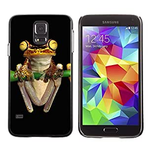 Cute Painting Slim pc Cover - Samsung Galaxy S5 ( Cool Neon Yellow Jungle Frog )