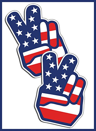 American Peace Finger Decal Sticker product image