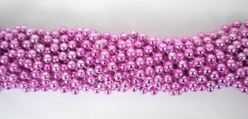 Mardi Gras Masks Cheap (33 inch 7mm Round Metallic Pink Mardi Gras Beads - 6 Dozen (72 necklaces))