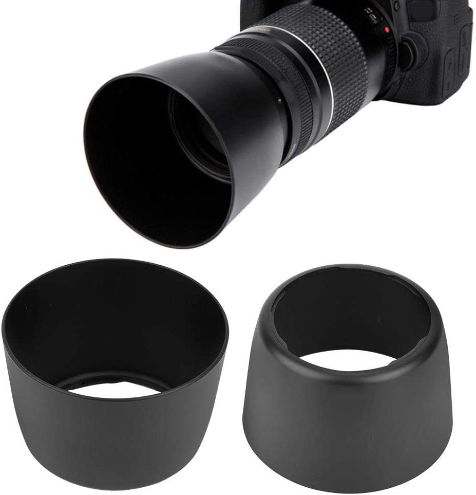 4.5-5.6 75-300mm,for Backlight,Side Light,Flash,Night Photography Lens Mount Hood,ET-60 ABS Plastic Lens Hood Replacement Photography Accessory for Canon EF-S 55-250mm f 4-5.6 IS 90-300mm f