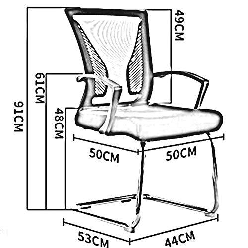DALL kontorsstol rosettformad nätstol metallram datorstol ergonomisk personalstol mjuk kudde konferensstol montering (färg: svart)