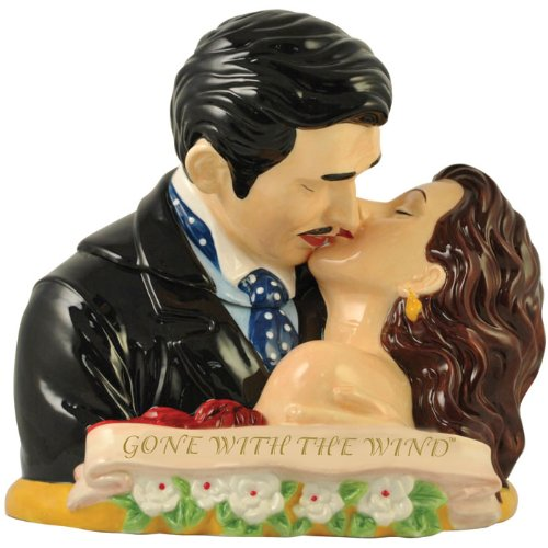 Westland Giftware Gone with the Wind Scarlett and Rhett Kissing Cookie Jar, 10-Inch