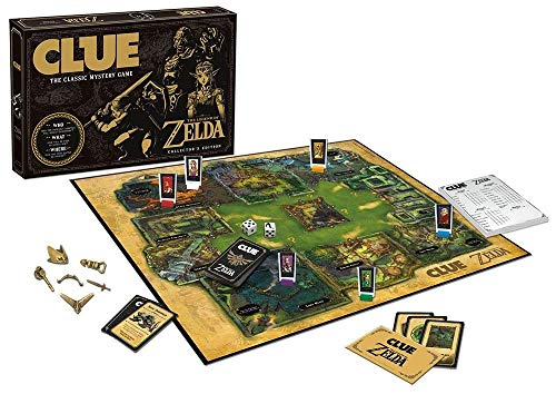 Clue The Legend of Zelda Board GameCL005-462 USAopoly The Legend of Zelda Clue Board Game, Multicolor ()