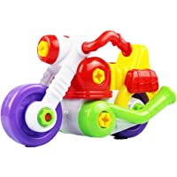 ADB Toys Disassembly and Assembly Cartoon Plastic Motorcycle Toy with Tool Kit Learning Puzzles for Children