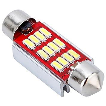 SODIAL (R) coche bombilla LED COB canbus Xenon Blanco Festoon Matrícula Interior 31 mm: Amazon.es: Coche y moto