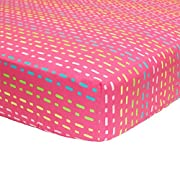 Tutti Frutti Hot Pink Fitted Crib Sheet by Belle
