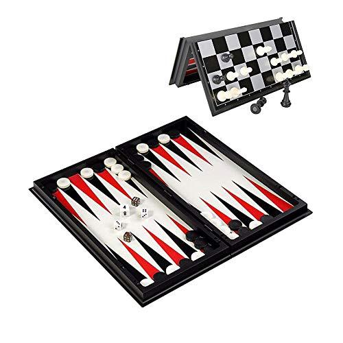 Zongha Ajedrez Magnetico Ajedrez para Ni?Os Juego de ajedrez para niños Portátil de Juego de ajedrez Regalos de ajedrez…