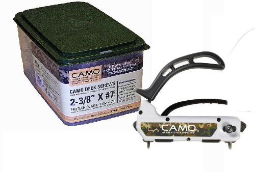 Camo 1750-Pro Pack 2 3/8 inch - 1750 Count Screws and Marksman Pro Fastening Tool by National Nail