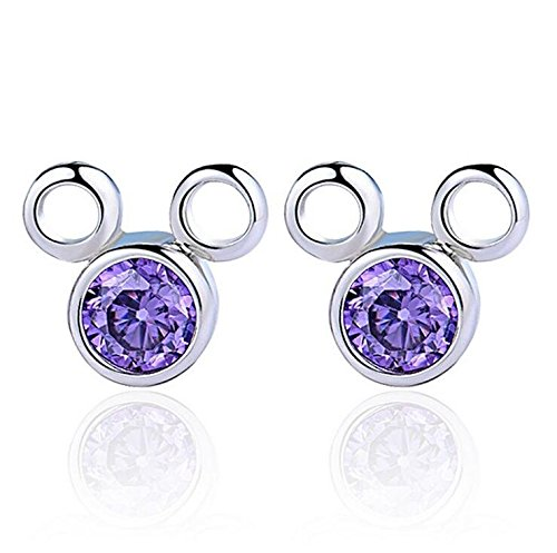 Creativelife Women's S925 Silver earrings super flash zircon cartoon earrings