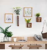 ALUS- Multi Photo Frames Set Wood Creative Portfolio Nordic Style Rural Living Room Bedroom Restaurant Wall Photo Picture Wall Frame ( Size : #2 )